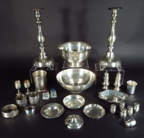 Large Sterling/800 Silver Hollowware Group