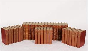 2 Sets of Leather Bound Books, Twain and Wilde