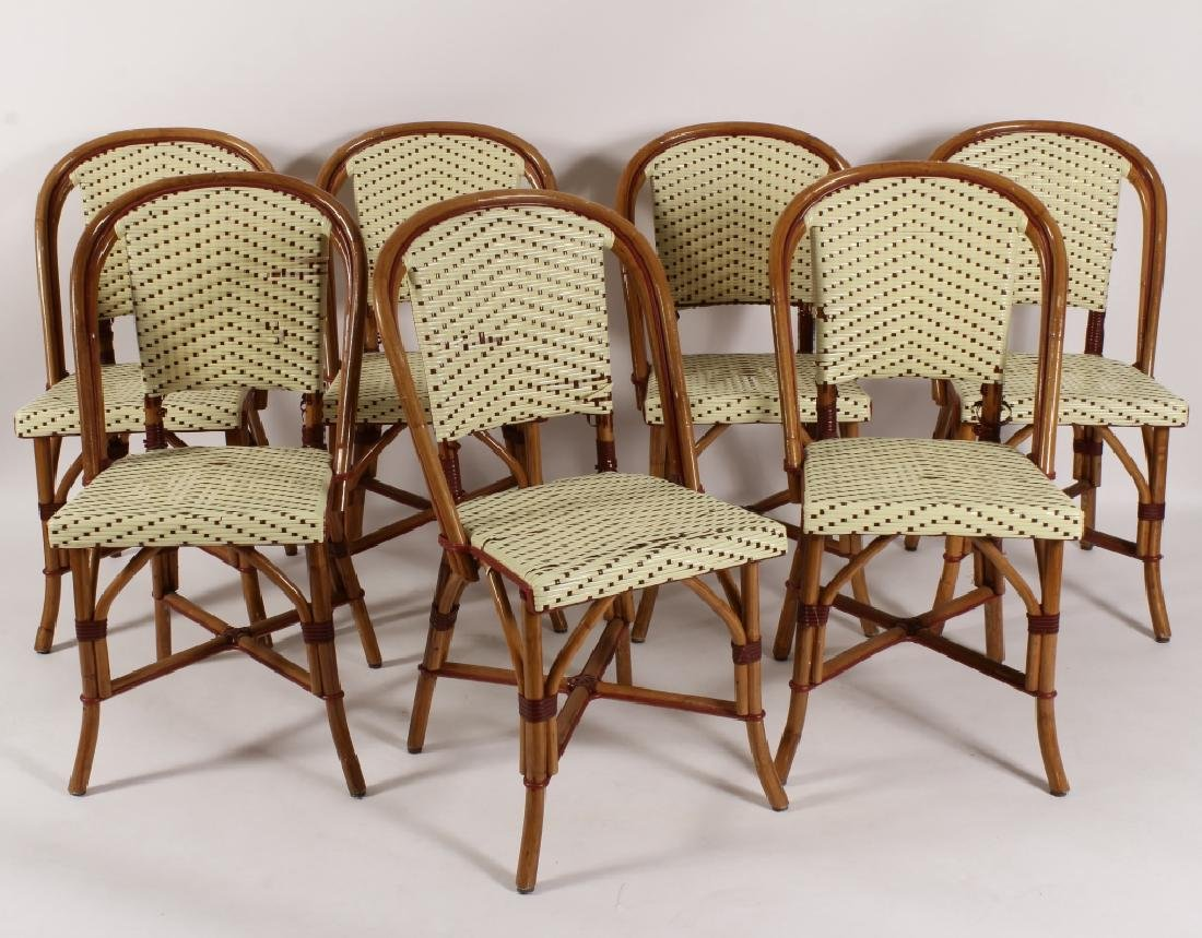 "Poitoux"" Rattan French Bistro Chairs"