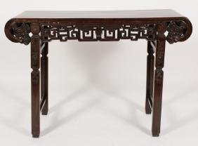 Chinese Carved Wood Altar Table 19th C.
