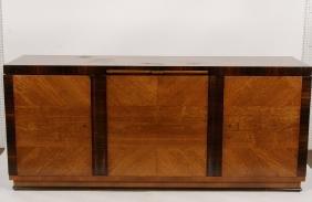 German Art Deco Rosewood & Fruitwood Sideboard.