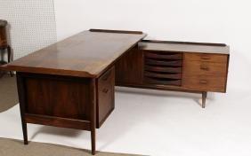 Arne Vodder, Rosewood Desk W Sideboard,1950's