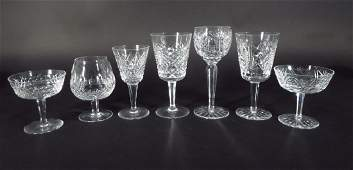 55 Pieces Irish Waterford Cut Crystal Stemware