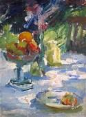 Louis L. Betts Am.1873-1961 Still-Life w Fruit O/C
