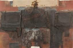 Dimitri Perdikidis 1922-89 Abstract w/ Canvas O/B
