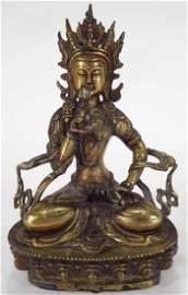 Sino-Tibetan Gilt Bronze Tara, 19th C.