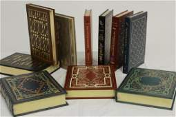 Collection of Leather Bound Books, Hemingway et al