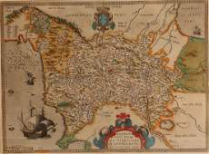 2 Antique Maps c 1600 Florence  Yorkshire