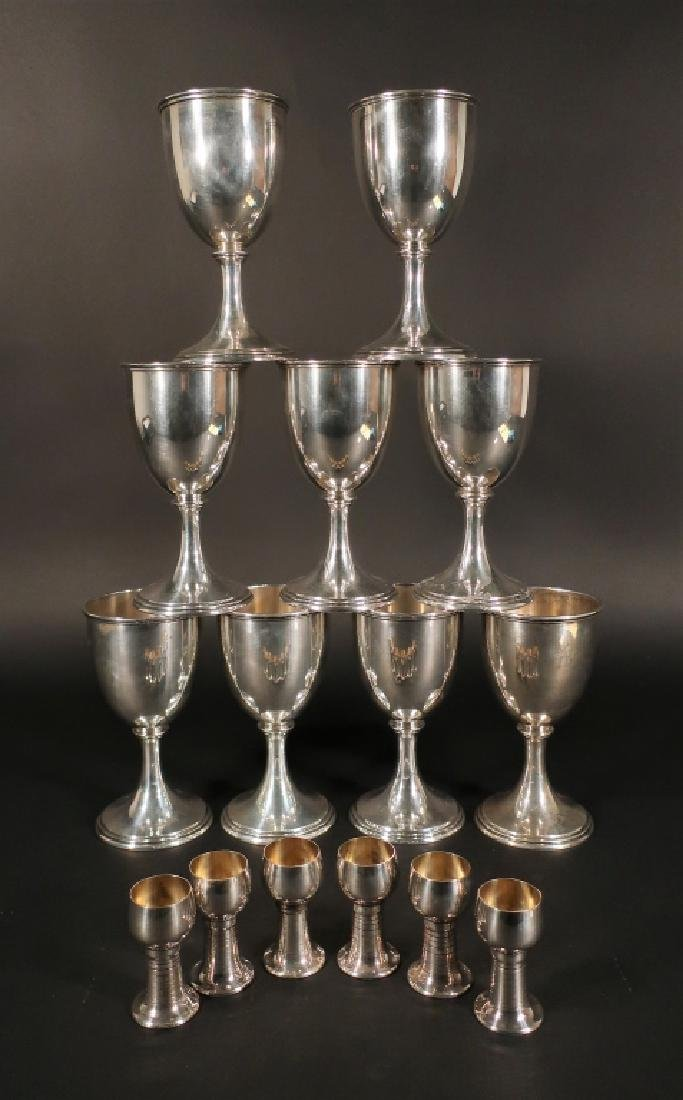 Sterling Silver Goblets and Cordials