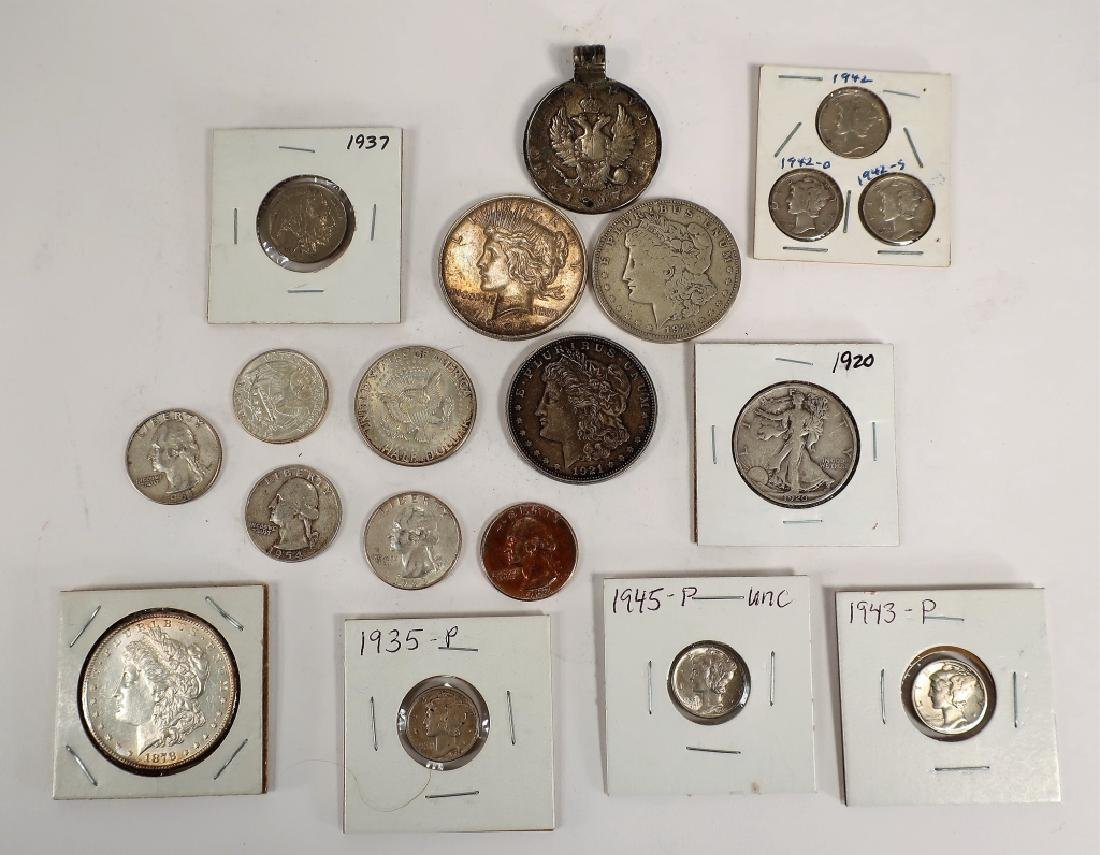Lot of Pre-1964 U.S. Coins and Others - 5