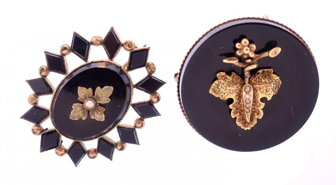 5 Victorian Brooches,14K and Others - 2