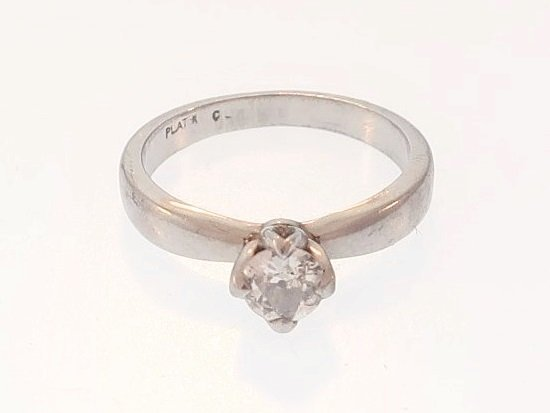 Platinum and Diamond Solitaire Ring