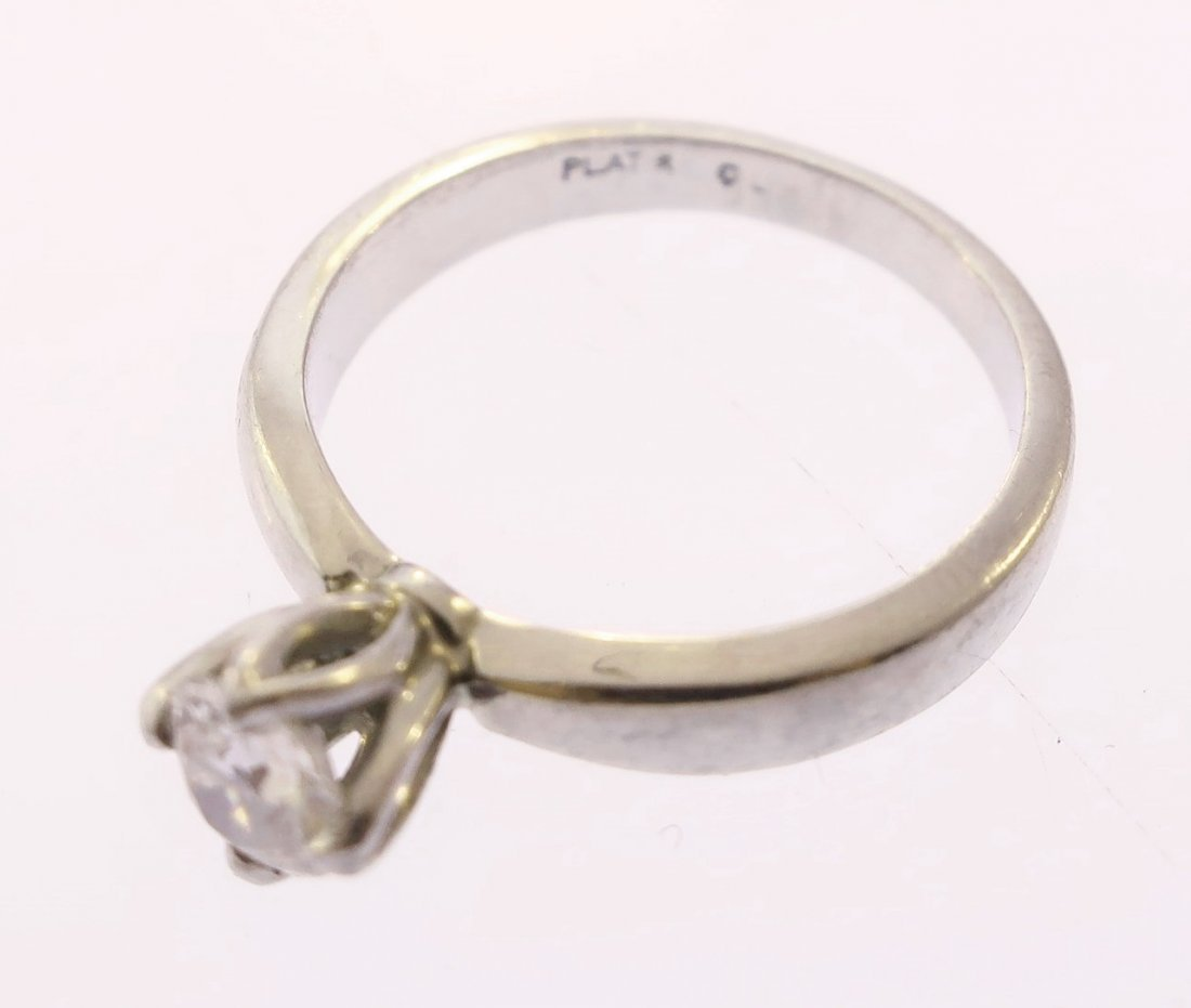 Platinum and Diamond Solitaire Ring - 5