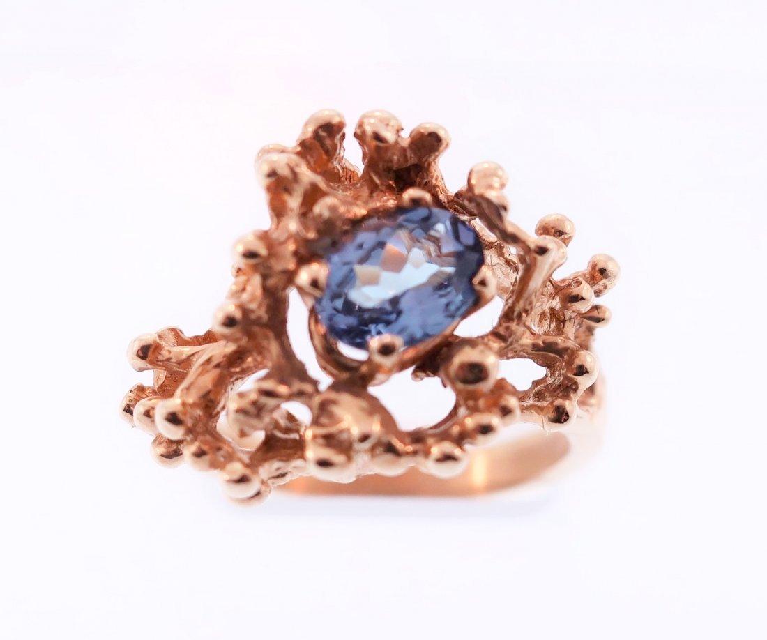 14K Gold and Tanzanite Ring - 2