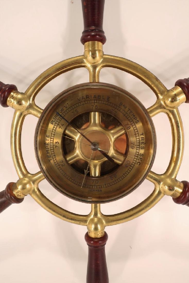 Hermes Ships Wheel Clock/Barometer,c.1950 - 2