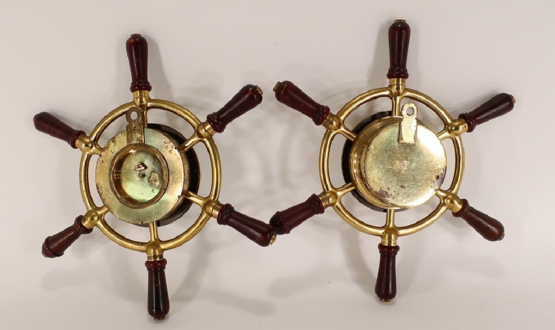 Hermes Ships Wheel Clock/Barometer,c.1950 - 3