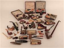 Antique Pipes Meerschaum and Briar 19th C