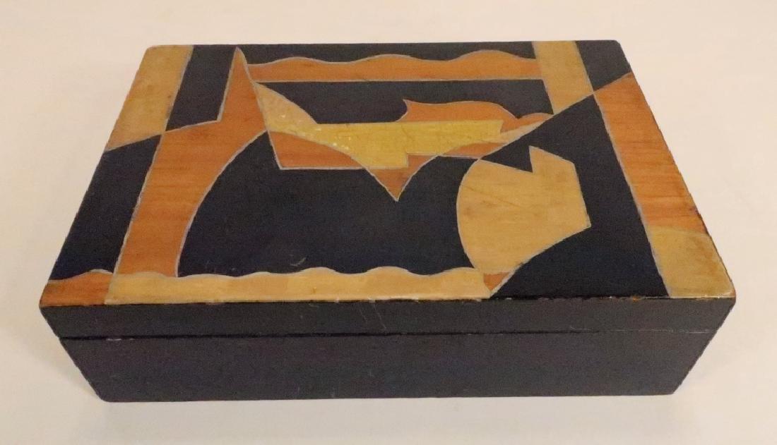 """Painted Wood Vanity Box signed """"Bozitch"""", C.1930"""