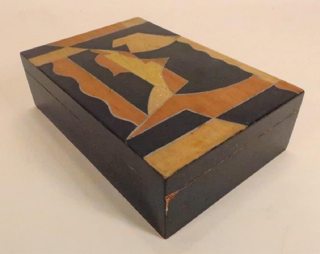 """Painted Wood Vanity Box signed """"Bozitch"""", C.1930 - 2"""