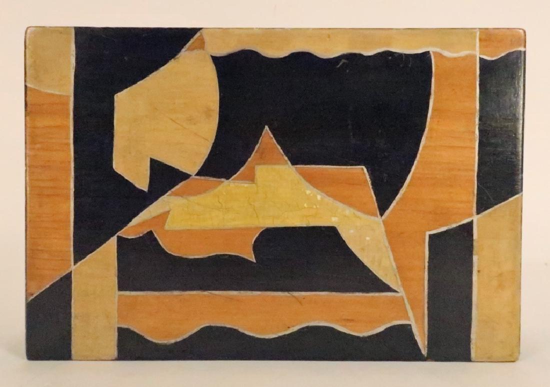 """Painted Wood Vanity Box signed """"Bozitch"""", C.1930 - 3"""