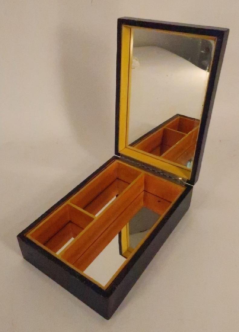 """Painted Wood Vanity Box signed """"Bozitch"""", C.1930 - 4"""