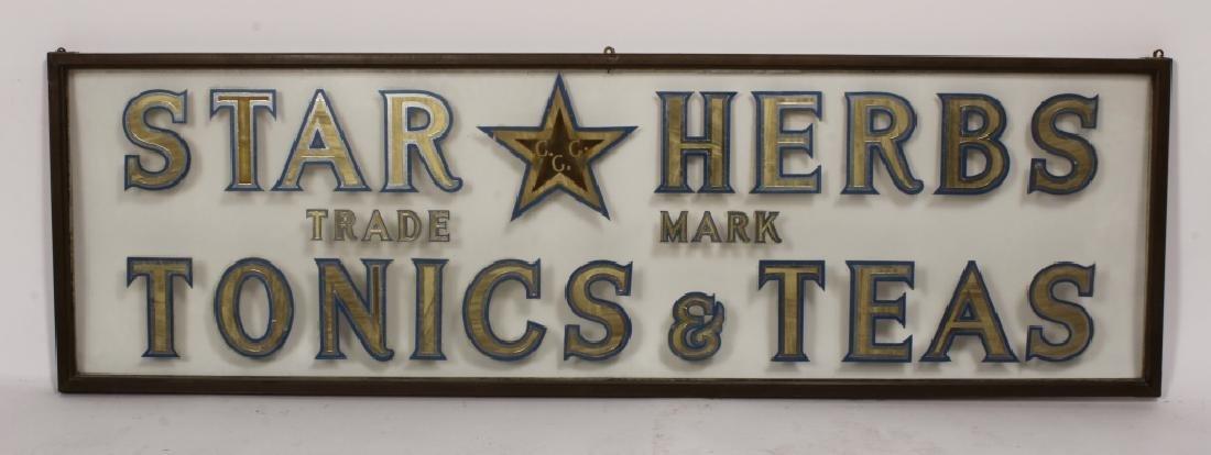 "Vintage ""Star Herbs"" Trade Mark Shop Sign"