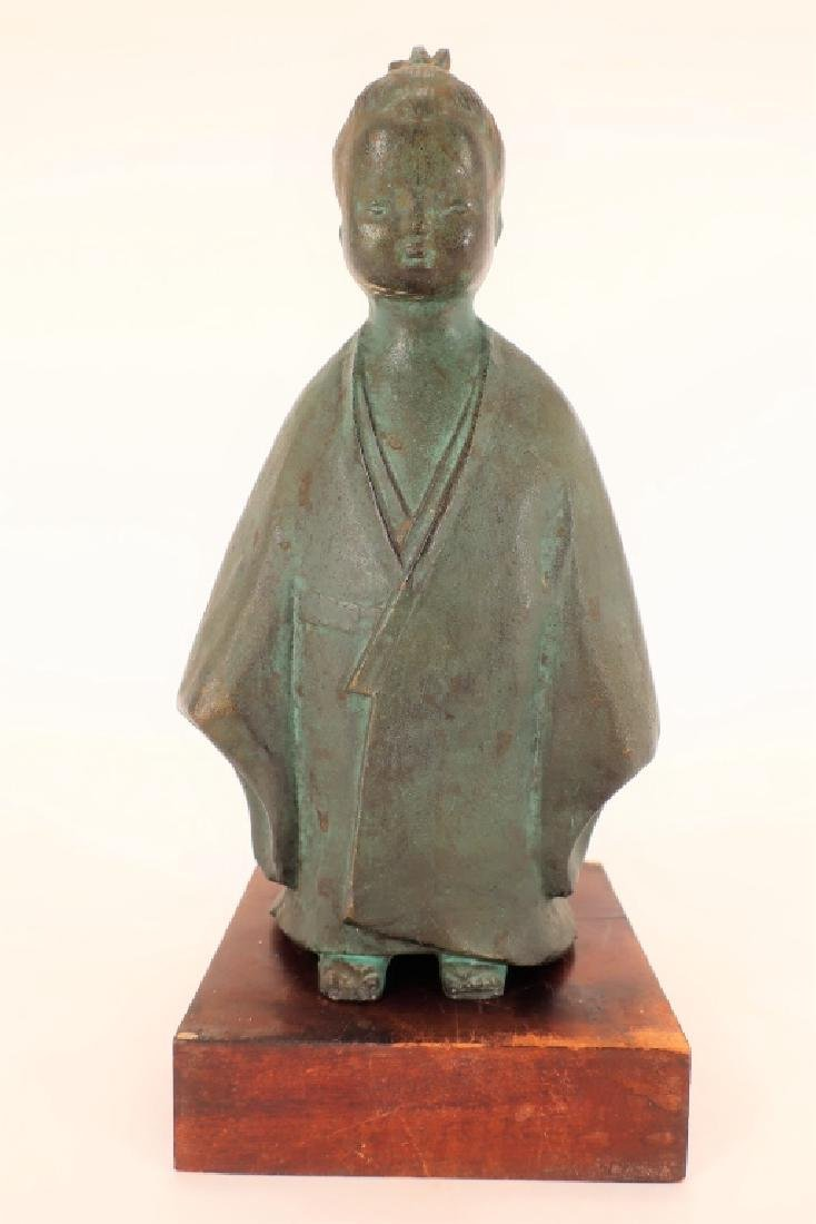 Japanese Bronze of Child,  20th C., Signed