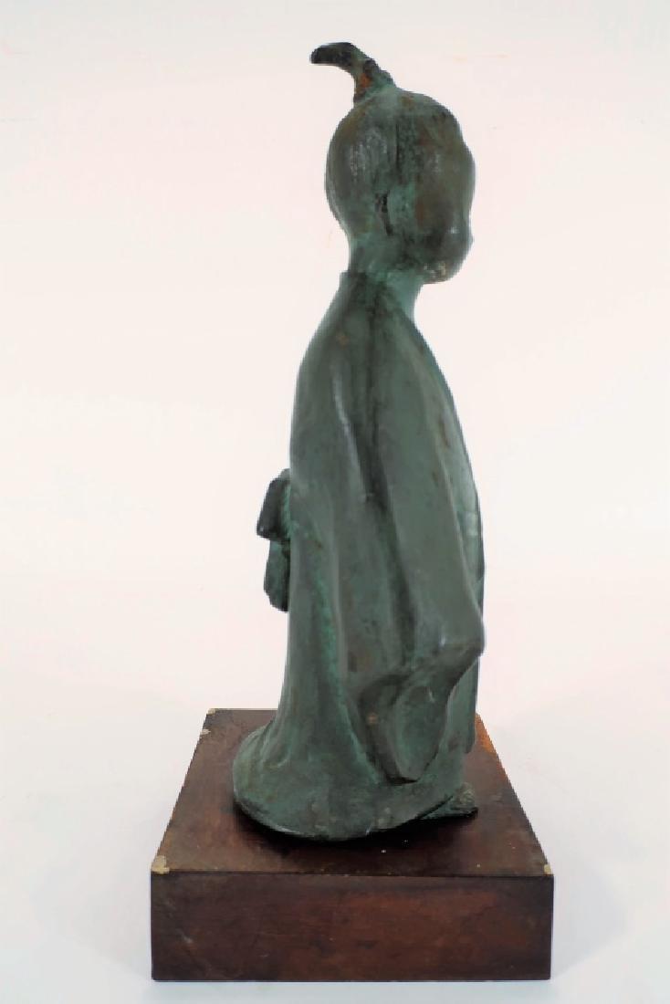Japanese Bronze of Child,  20th C., Signed - 2