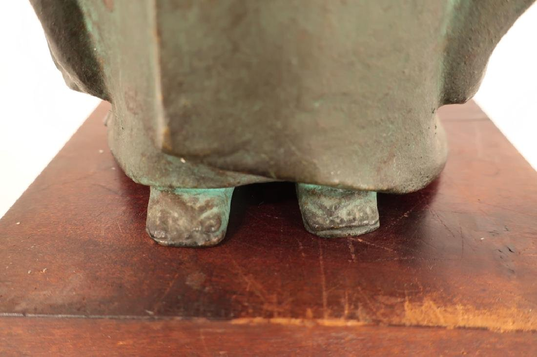 Japanese Bronze of Child,  20th C., Signed - 6