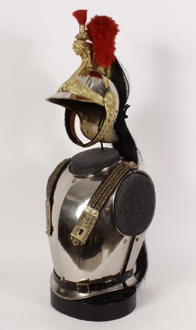 19th c. French Brass/Steel Helmet & Breastplate - 2