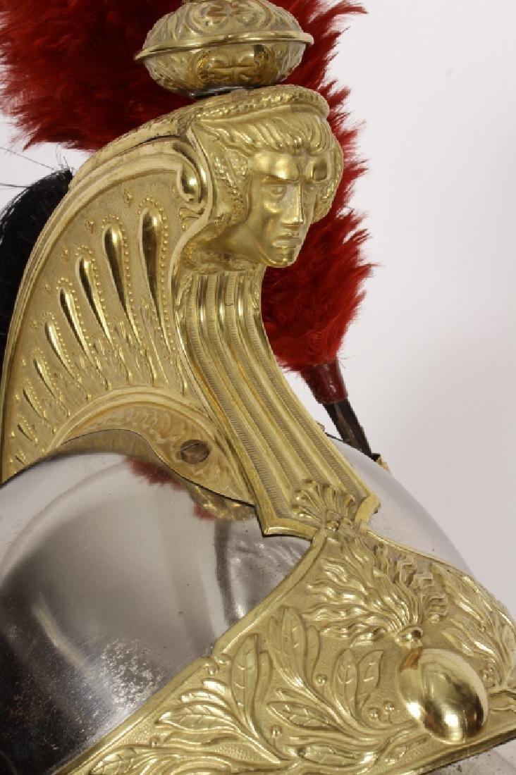 19th c. French Brass/Steel Helmet & Breastplate - 6