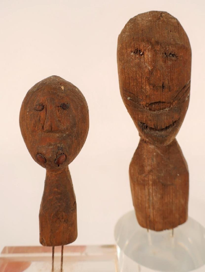 4 Rare Inuit Wood Figures/Dolls, 19th C & Earlier - 7