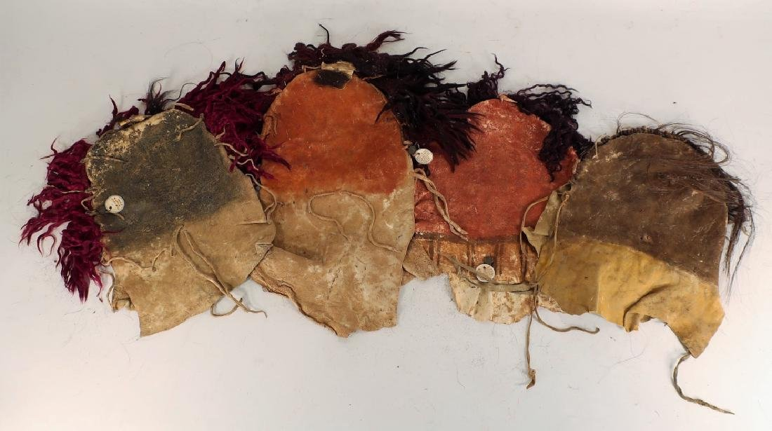 4 Navajo Yei Dance Masks, mid 20th C. - 6