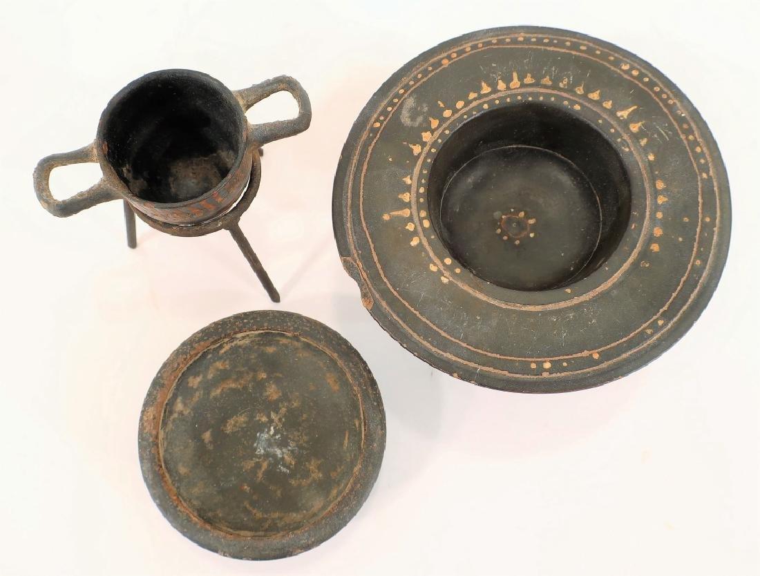 5 Ancient Blackware Vessels, Magna Graeca, 350 BC - 2