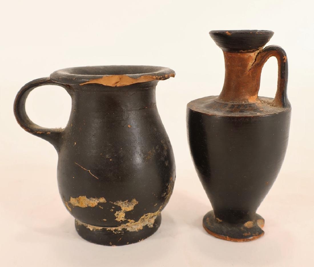 5 Ancient Blackware Vessels, Magna Graeca, 350 BC - 3