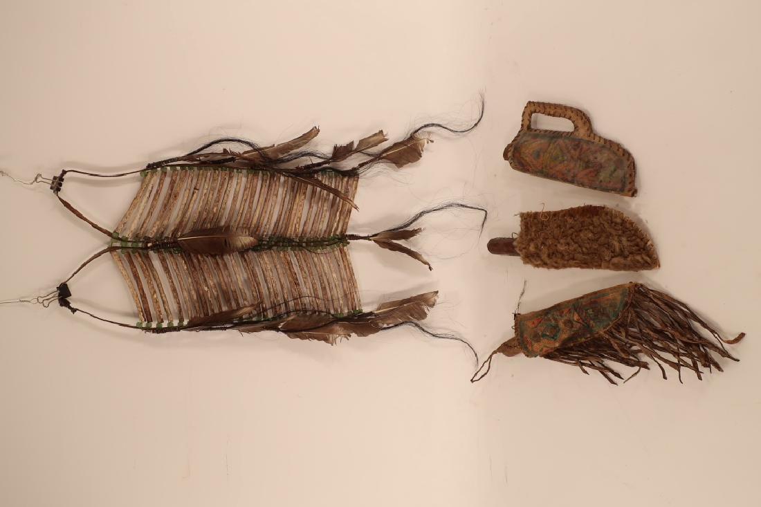 3 Native American Hunting Knives in Sheath, 19th C