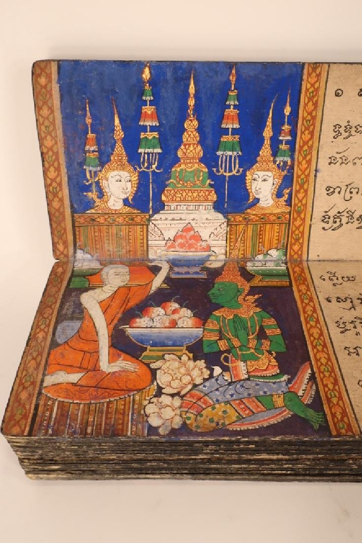 Thai Folding Manuscript, w. Paintings, early 19 C. - 3