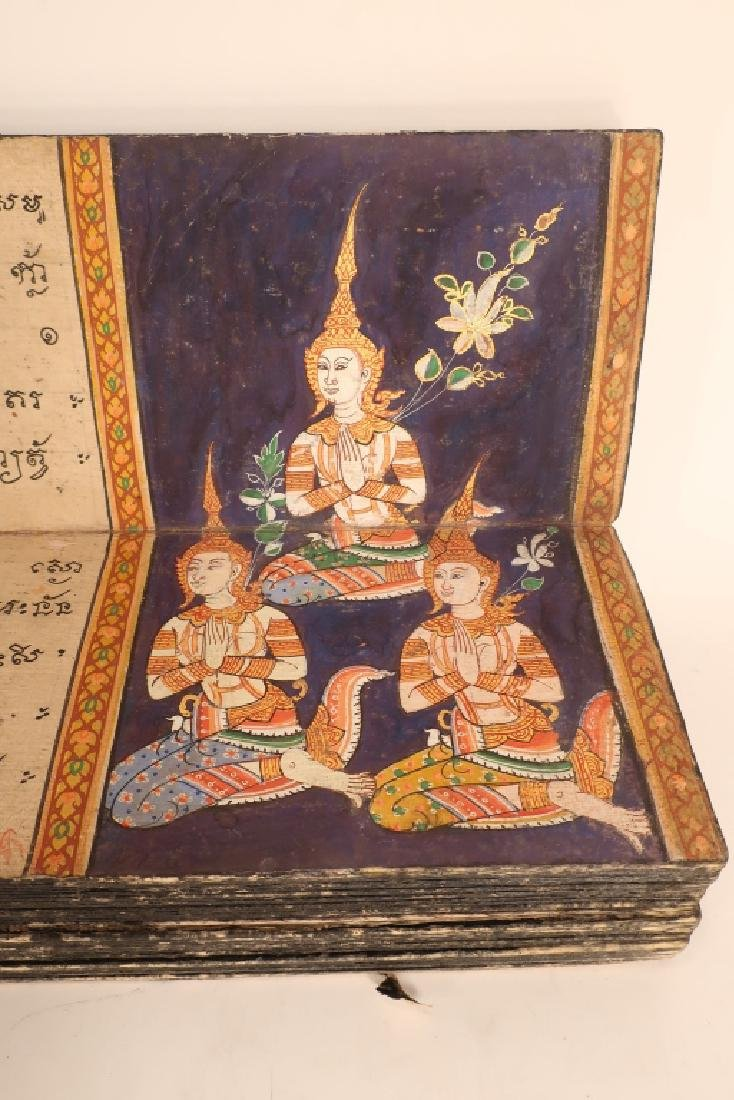 Thai Folding Manuscript, w. Paintings, early 19 C. - 4