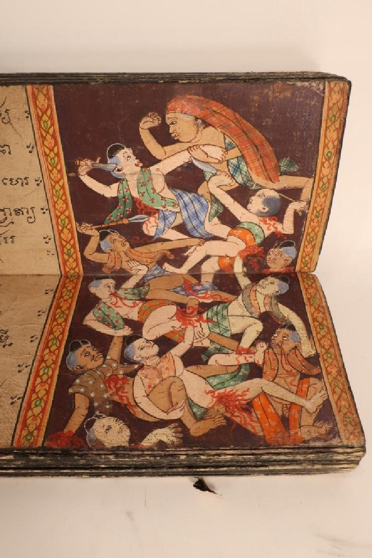 Thai Folding Manuscript, w. Paintings, early 19 C. - 5
