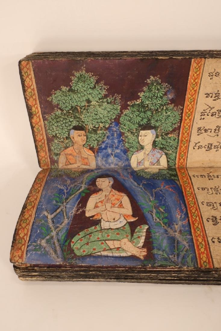 Thai Folding Manuscript, w. Paintings, early 19 C. - 6