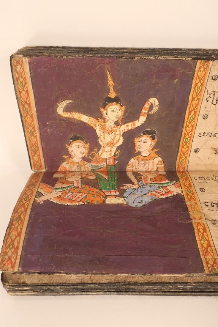 Thai Folding Manuscript, w. Paintings, early 19 C. - 7