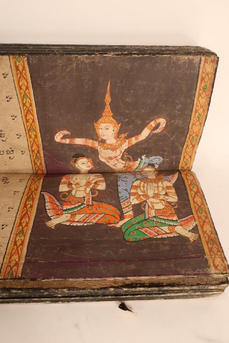 Thai Folding Manuscript, w. Paintings, early 19 C. - 8
