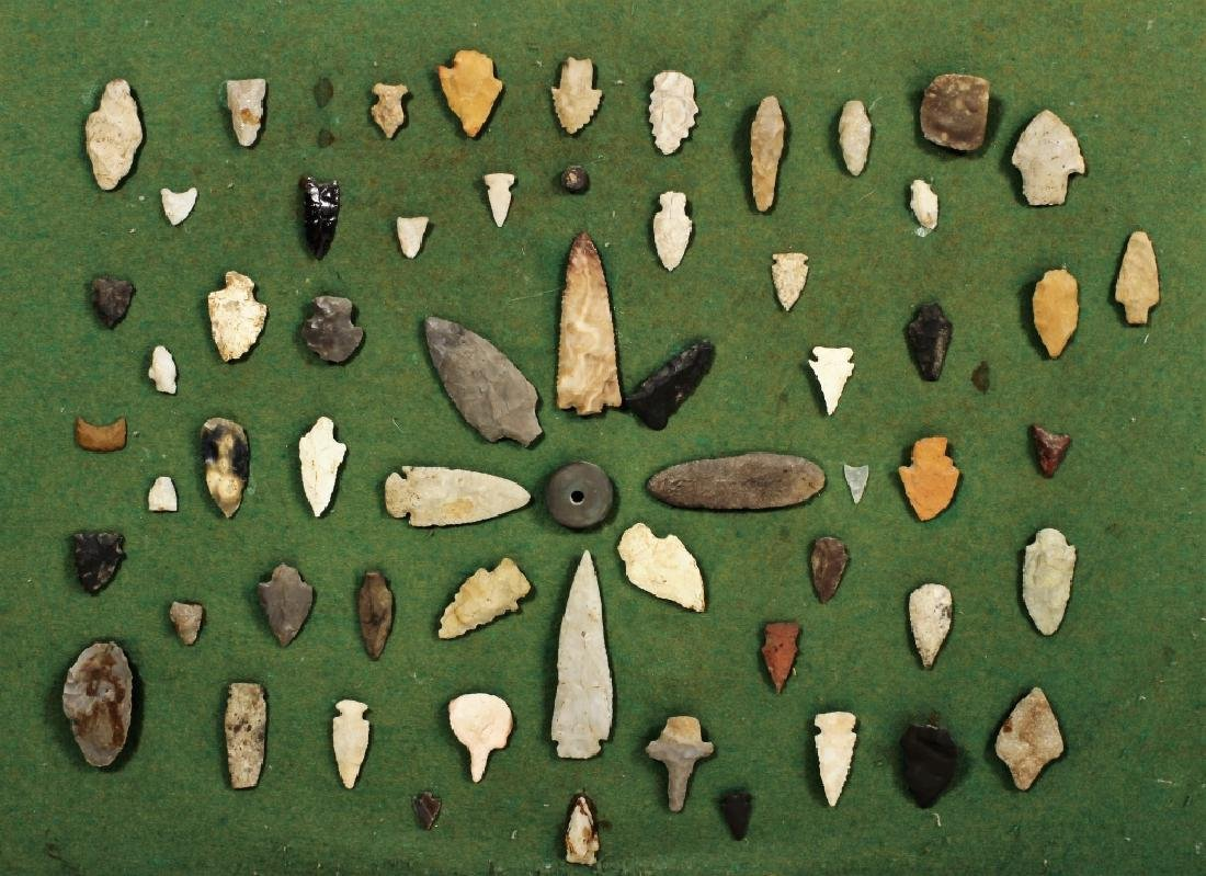 Large Collection: Native American Arrowheads/Tools - 9