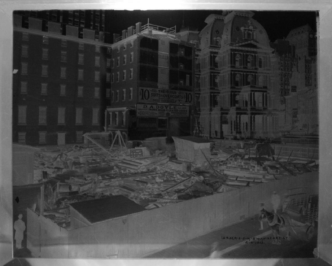 Lot of 7 Glass Negatives of NYC 1914-1916 - 6