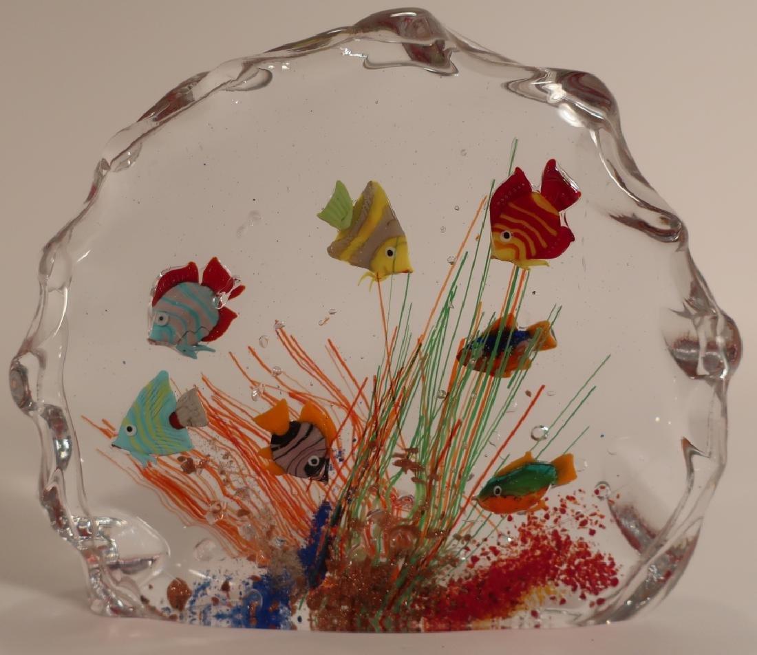 Murano Glass Aquarium Fish Sculpture