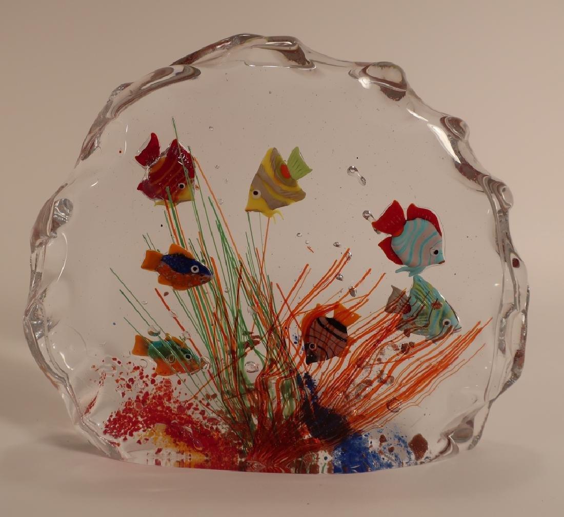 Murano Glass Aquarium Fish Sculpture - 3