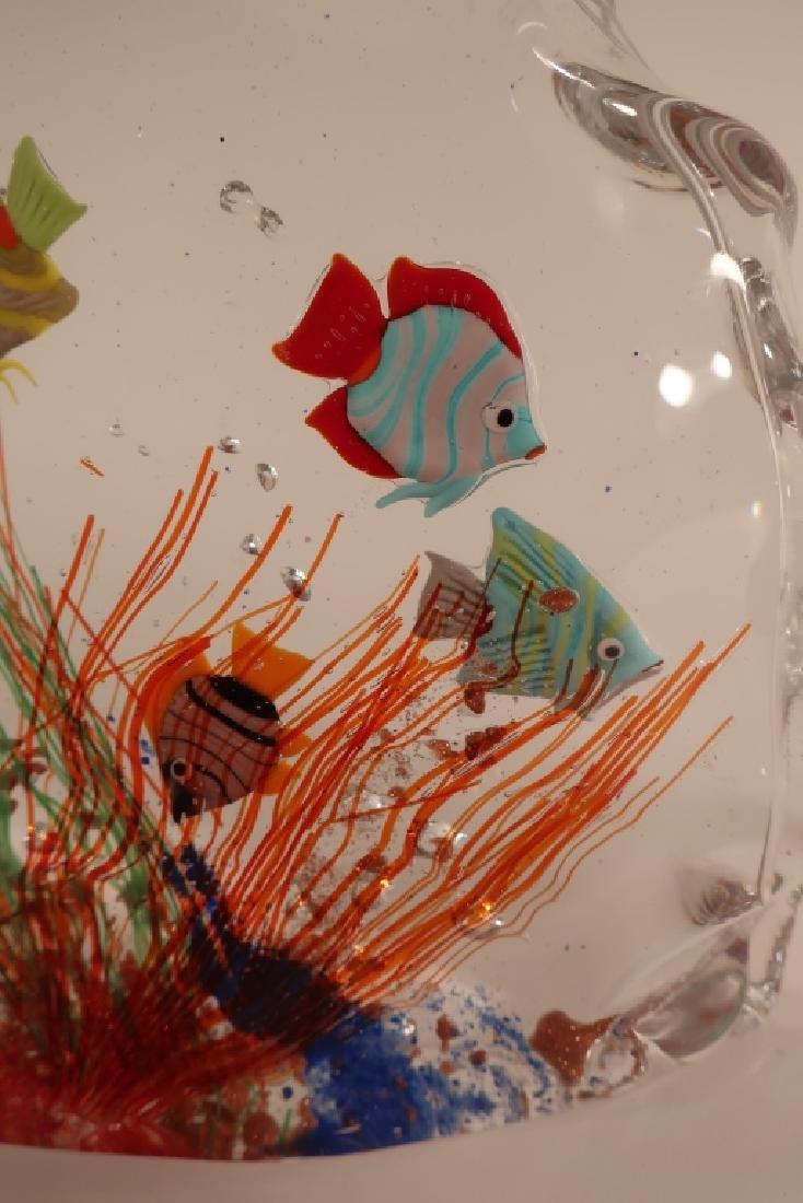 Murano Glass Aquarium Fish Sculpture - 4