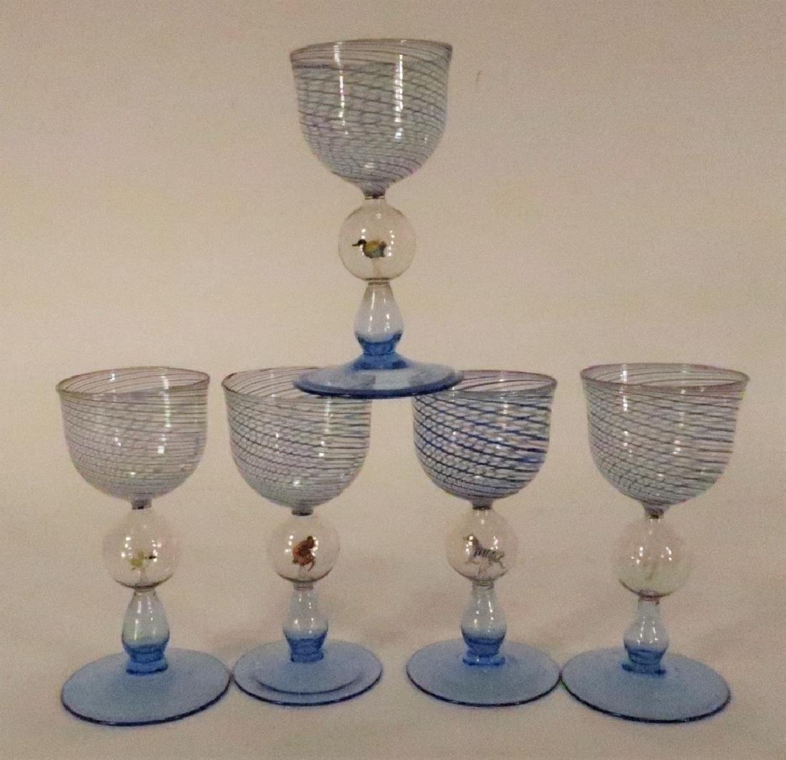 5 Bimini Weiner Werkstatte Glasses, Austria, 1920