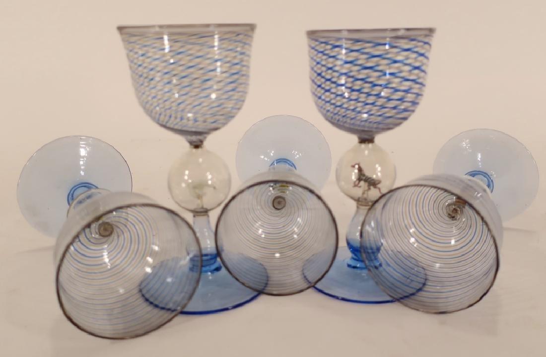 5 Bimini Weiner Werkstatte Glasses, Austria, 1920 - 7