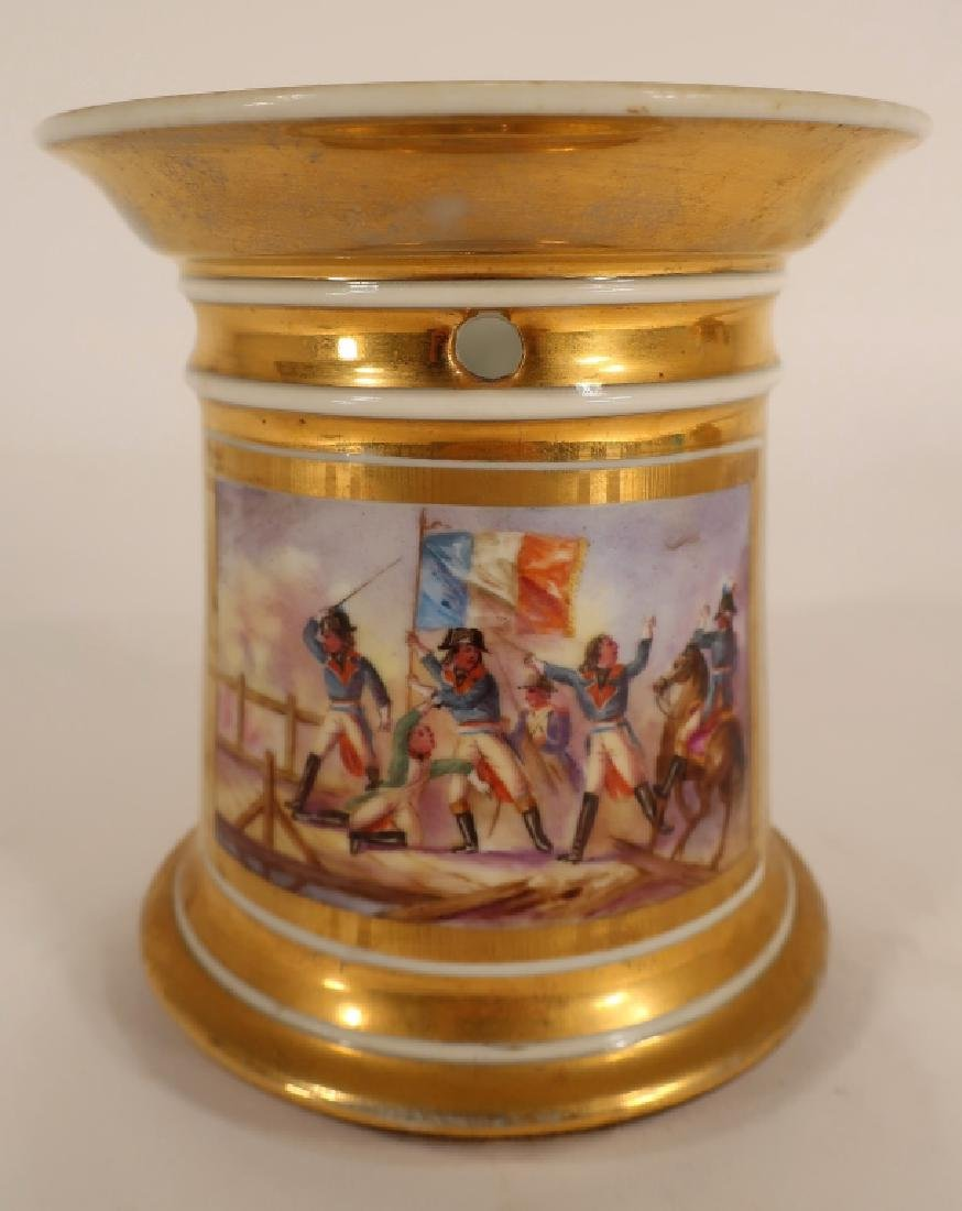 Napoleonic hand painted teapot with stand - 5